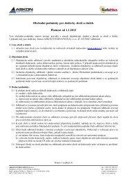 Obchodní podmínky pro dodávky zboží a služeb. Platnost od 1.1.2012