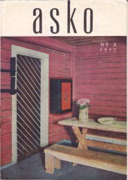 Asko magazines from the 50′s and 60