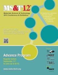Advance Program - MS&T