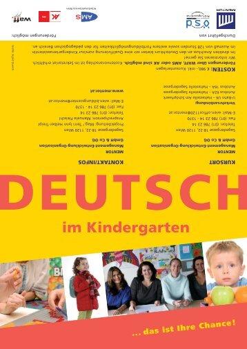 DEUTSCH im Kindergarten - Mentor