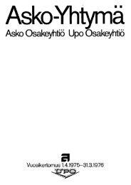 Page 1 Asko -Yhtymä Asko Osakeyhtiö Upo Gsakeyhtiö ...