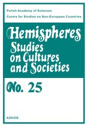 Hemispheres No. 25 available for download - Polska Akademia Nauk