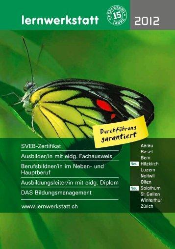 Lernwerkstatt_Broschuere_2012 - Schweizerischer Verband für ...