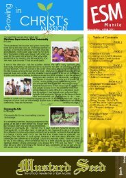 Newsletter April 2011 - ESM Manila