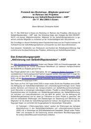 """Dokumentation des Workshops """"Mitglieder gewinnen"""" im ... - UKE"""