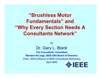 """Brushless Motor Fundamentals"" and ""Why Every Section Needs A ..."