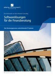 Softwarelösungen für die Finanzberatung - Steria