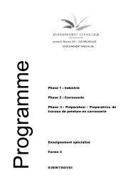 Enseignement spécialisé Forme 3 Phase 1 : Industrie ... - SeGEC