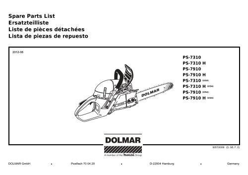 133 S Dichtungssatz für Dolmar  123-133 143