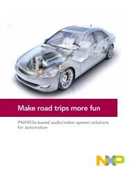 PNX953x-based audio/video system solutions for automotive