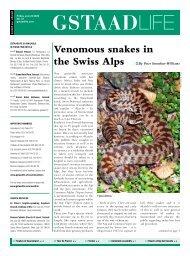 Venomous snakes in - GstaadLife print edition