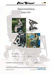 Gebrauchsanleitung Jazzy 1121 - Mini Crosser