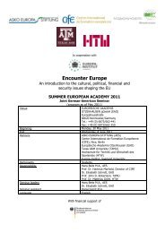 Encounter Europe - Texas A&M University