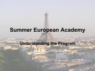 Summer European Academy Main Presentation - Political Science ...