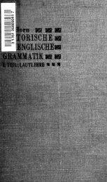 Historische neuenglische Grammatik - Index of