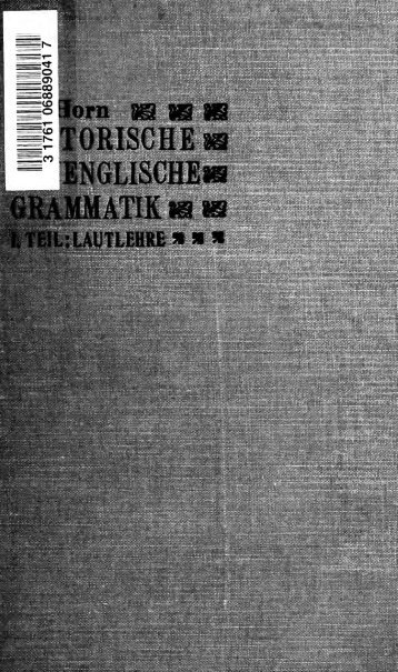 Historische neuenglische Grammatik - Index of