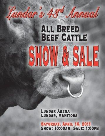 Lundar Arena Lundar, Manitoba Saturday, April 16 ... - BuyAgro.com