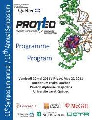 scientific program - Département de biochimie, de microbiologie ...
