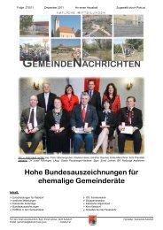 Hohe Bundesauszeichnungen für ehemalige Gemeinderäte - Katsdorf