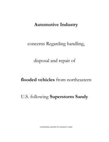 Automotive Industry concerns Regarding ... - CCAR-GreenLink