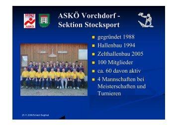 ASKÖ Vorchdorf - Sektion Stocksport - ASKOE Vorchdorf