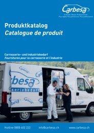 Produktkatalog Catalogue de produit - Carrosserie