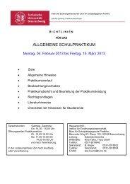 Richtlinien für das ASP 2013 - Technische Universität Braunschweig