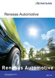 RENESAS AUTOMOTIVE - Renesas Electronics