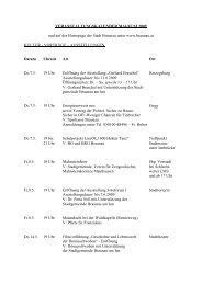 VERANSTALTUNGSKALENDER / 2000 - in Braunau am Inn
