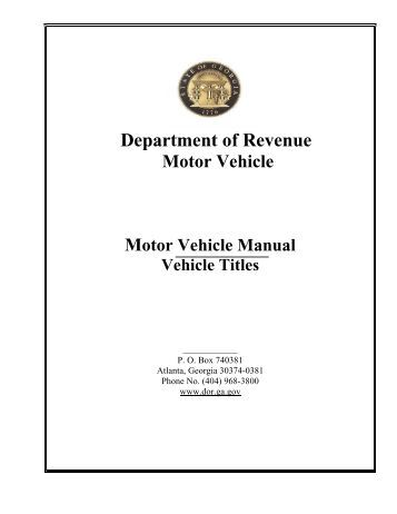 georgia department of motor vehicles title