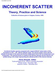 97/53:Incoherent Scatter Theory, Practice and Science - eiscat