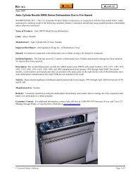 Asko Cylinda Recalls DW95 Series Dishwashers Due to