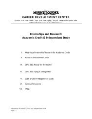 Internships & Research: Academic Credit and Independent Study