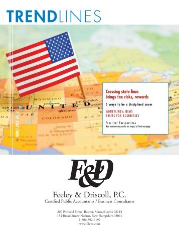 Trendlines Tax Newsletter June 2012 - Feeley & Driscoll, PC CPA