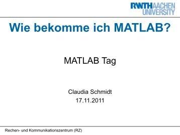 matlab rwth