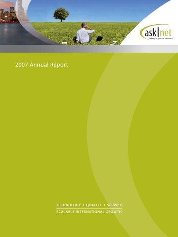 asknet Annual Report 2007 (PDF)