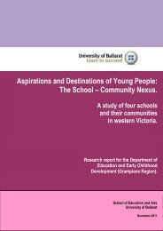 Aspirations and Destinations of Young People - North Central Local ...