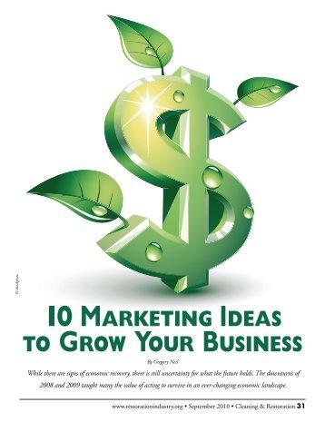 10 marketing ideas to grow your business - Gregory Neil Associates