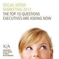 social media marketing 2012 the top 10 questions - Kleber ...