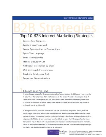 Uk top 10 internet world wide web marketing agencies ranked by top 10 b2b internet marketing strategies customer paradigm malvernweather Images