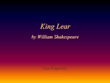King Lear - Baylor School Email Page