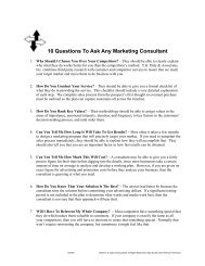 10 Questions To Ask Any Marketing Consultant - BestFit Solutions