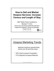 How To Sell And Market Hospice Services - National Association for ...