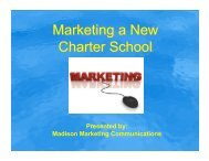 Marketing a New Charter School - Wisconsin Charter Schools ...