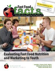 Evaluating Fast Food Nutrition and Marketing to ... - Fast Food FACTS