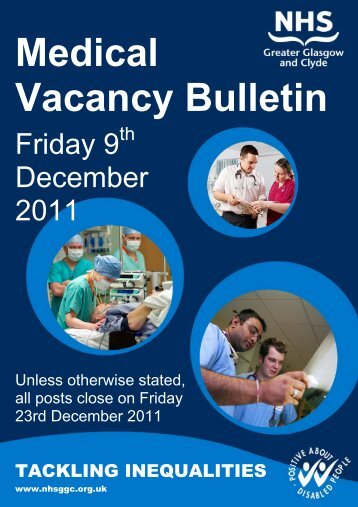 Medical Vacancy Bulletin - NHS Greater Glasgow and Clyde