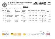 14. Int. ADAC Oldtimer- und Classic Rallye der ... - AC Verden