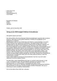 Antrag an das UVEK bezüglich Oldtimer & Umweltzonen - O-iO
