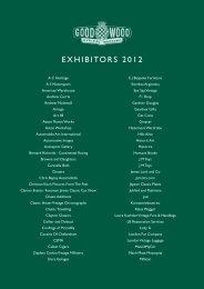 Revival Exhibitors List 2012 v2 - Goodwood