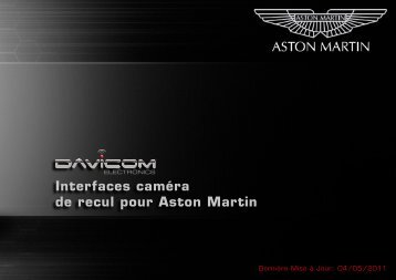 Interfaces caméra de recul pour Aston Martin - Davicom Electronics